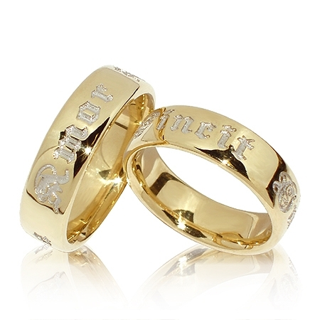 Amor-ringene i gultgull