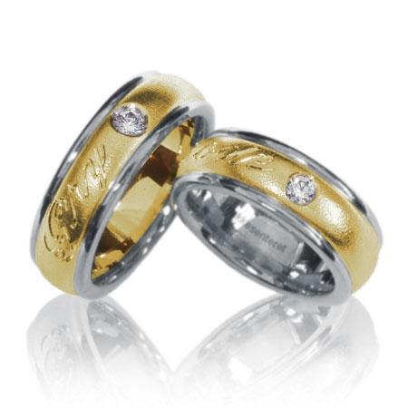 Ring 29 Dame gultgull i midten i 7mm bredde